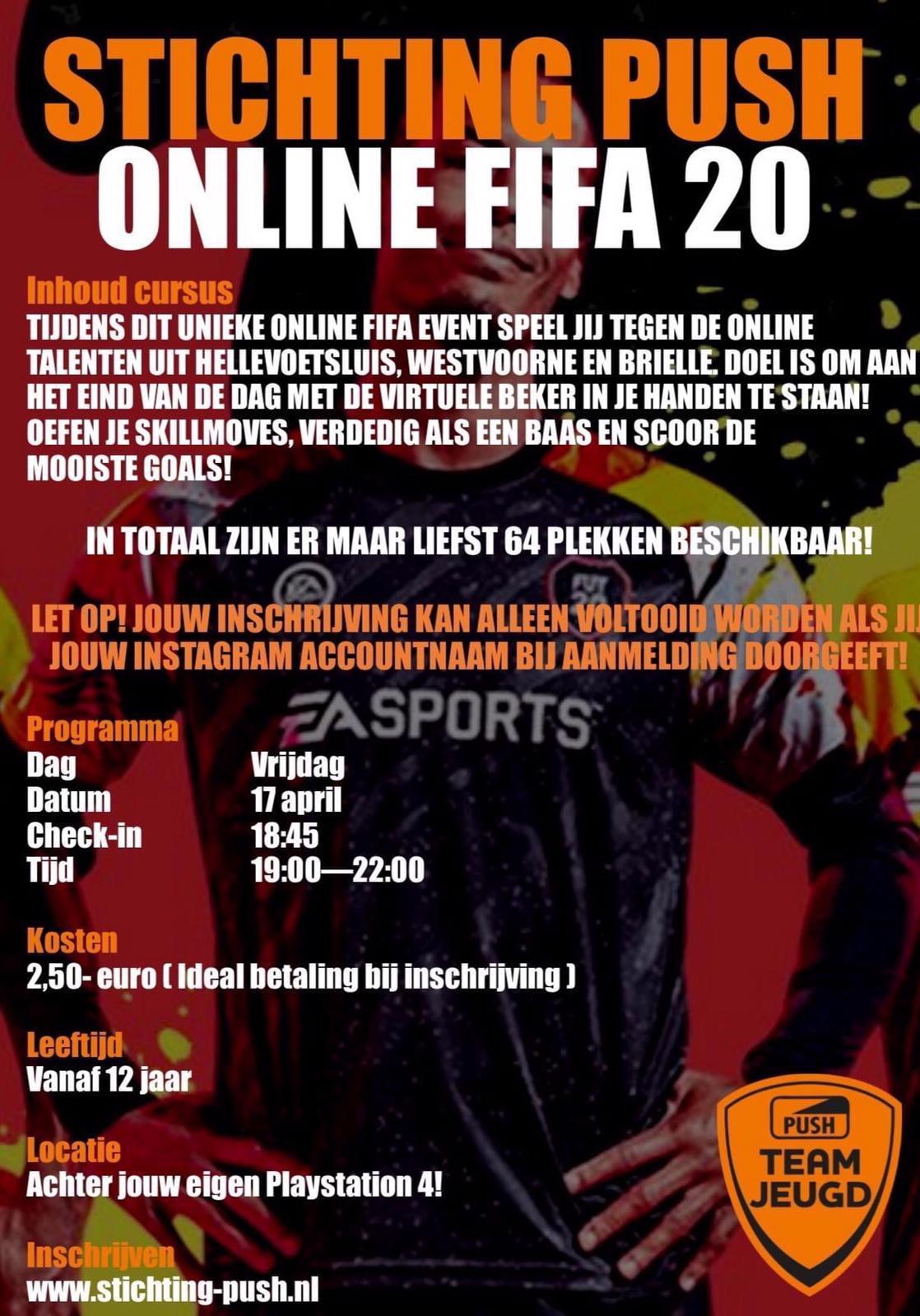 Stichting Push organiseert online FIFA 20 toernooi