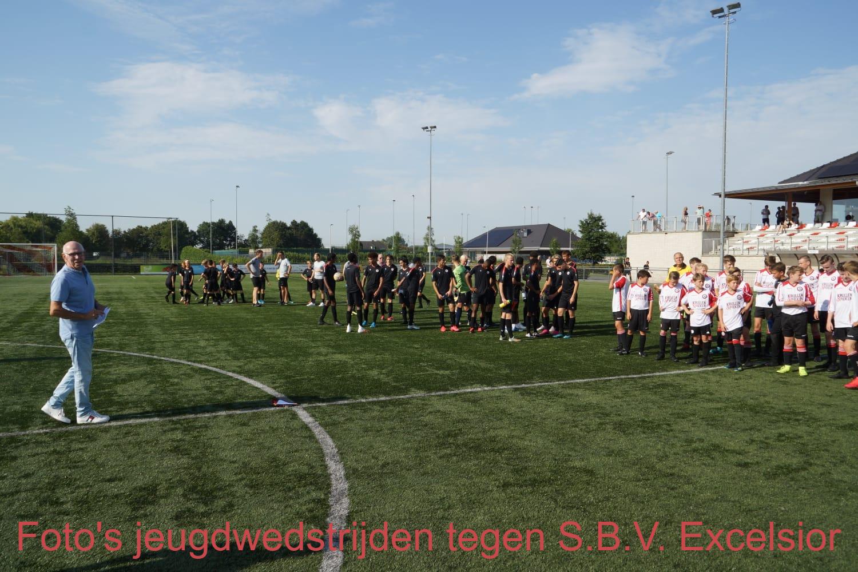 Foto's jeugdwedstrijden tegen S.B.V. Excelsior
