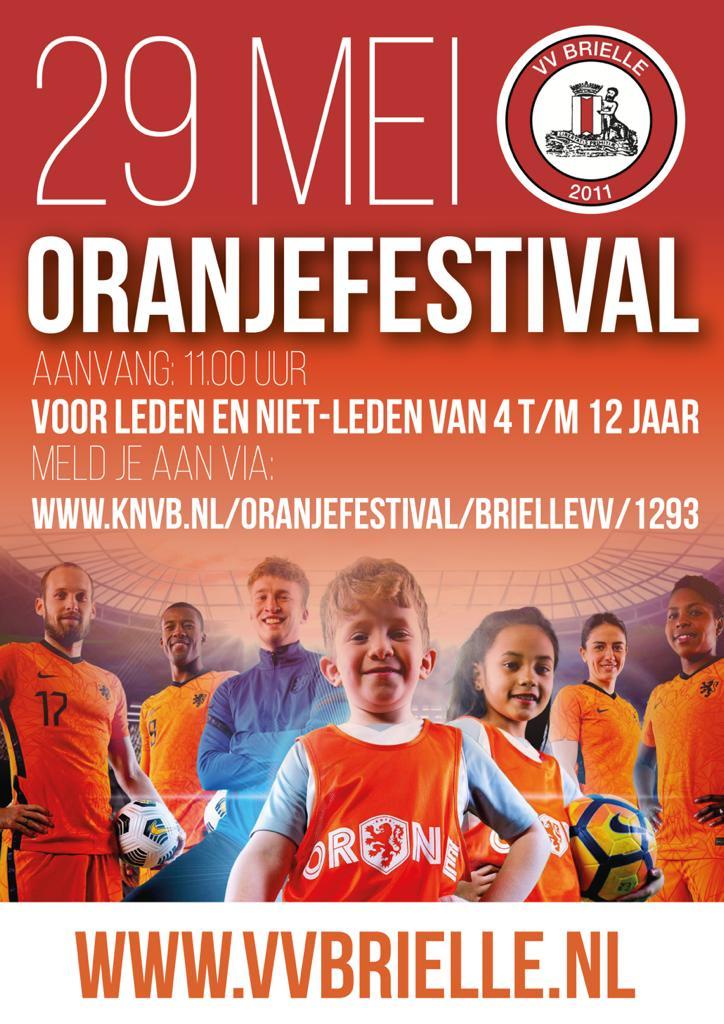 Oranjefestival VV Brielle 29 mei 2021