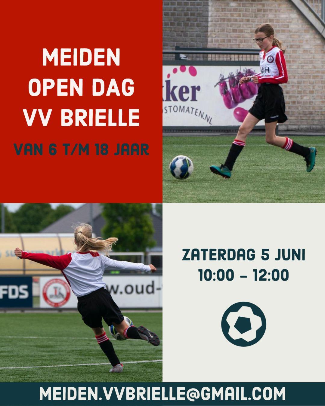 Meiden open dag VV Brielle (Gaat wel door)