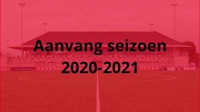 Aanvang seizoen 2020-2021