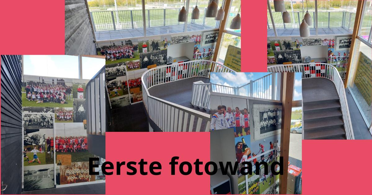 Vrienden van VV Brielle sponsoren eerste fotowand