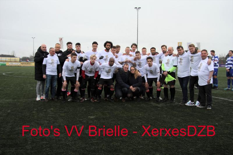 VV Brielle 1 – XerxesDZB 1 eindigt in een gelijkspel (1-1)