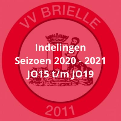 Indelingen seizoen 2020-2021 JO15 t/m JO19 (Aanpassing)