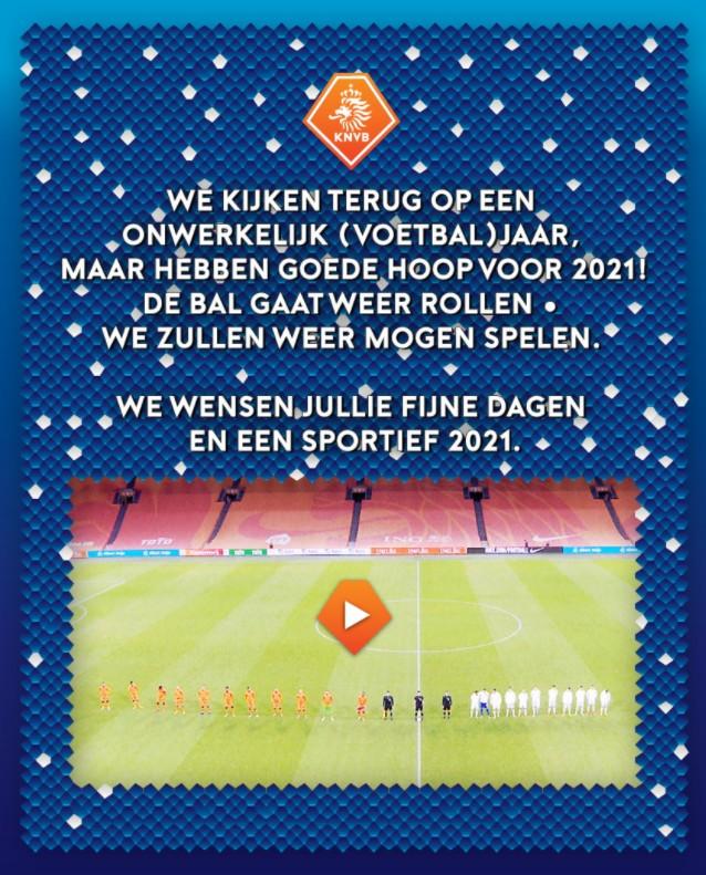 Kerstgroet 2020 KNVB