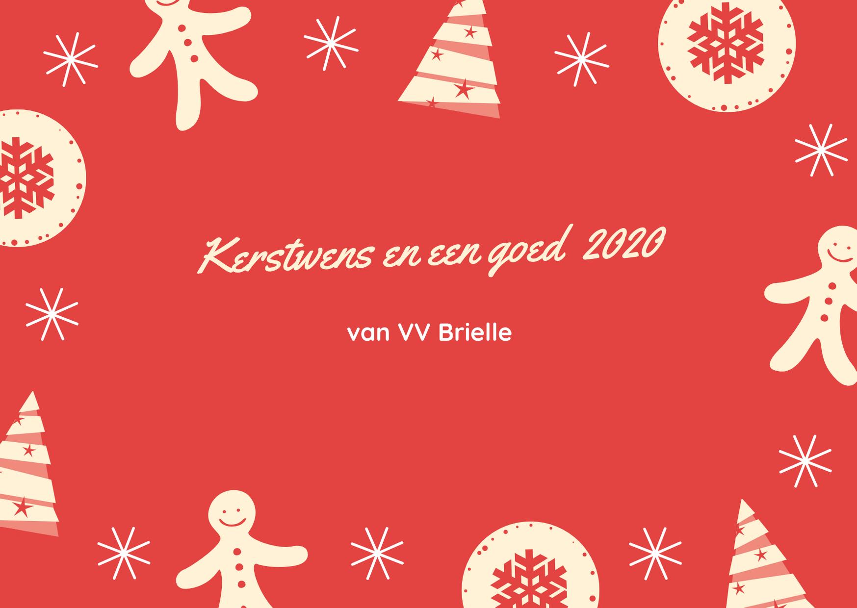 Kerstwens en een goed 2020 van VV Brielle