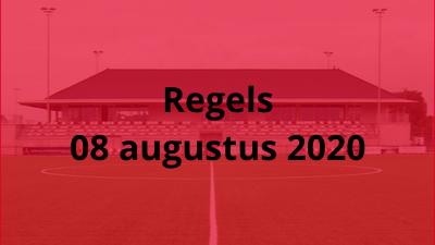 Regels 08 augustus 2020