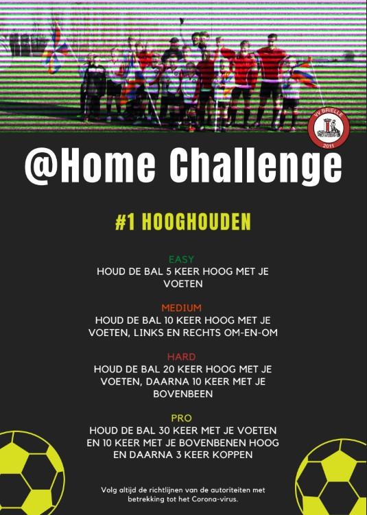 @Home Challenge voor jeugdspelers VV Brielle