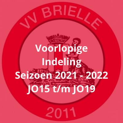 Voorlopige indeling bovenbouw seizoen 2021-2022