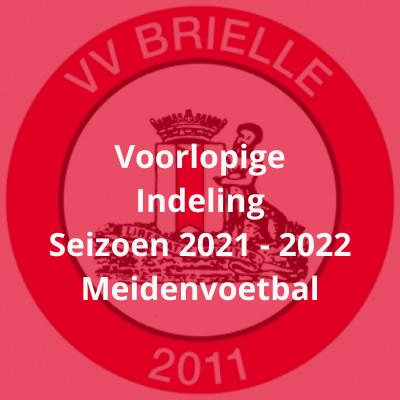 Meidenvoetbal - voorlopige teamindeling seizoen 2021-2022