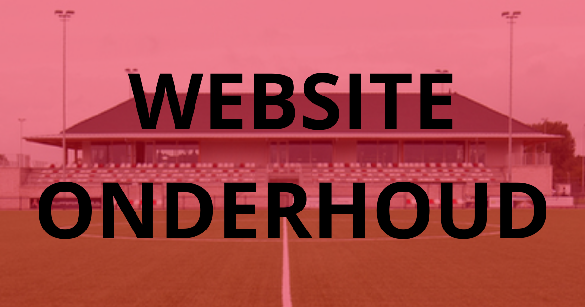 Onderhoud website in juni